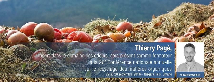 Odotech présent à la 26 Conférence nationale annuelle sur le recyclage des matières organiques.