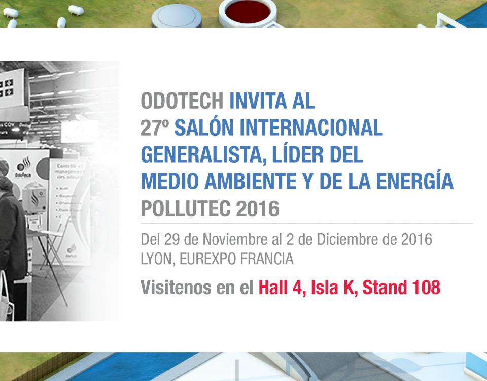 Odotech participará en el 27 Salón Internacional Generalista, Líder del Medio Ambiente y de la Energía - Pollutec 2016