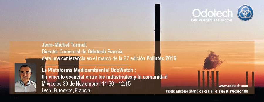 Odotech dará una conferencia sobre la calidad del aire en Pollutec 2016