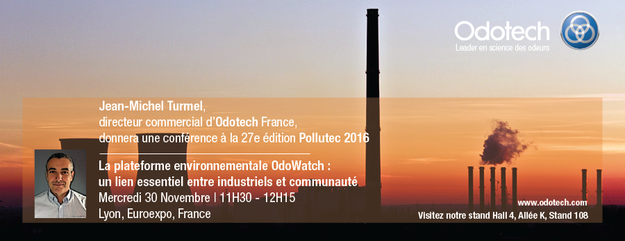 Odotech donne une conférence sur la qualité de l'air à Pollutec 2016