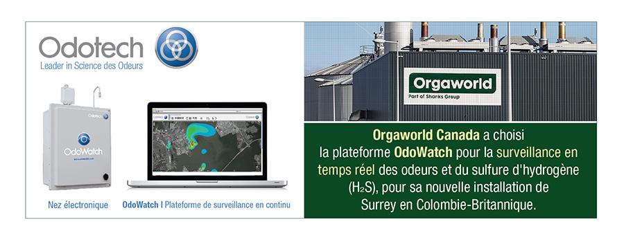 Orgaworld Canada a choisi la plateforme OdoWatch pour sa nouvelle installation de Surrey en Colombie-Britannique.