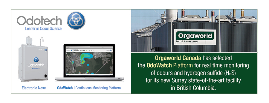 Orgaworld Canada has selected the OdoWatch platform for its new facility in British Columbia.