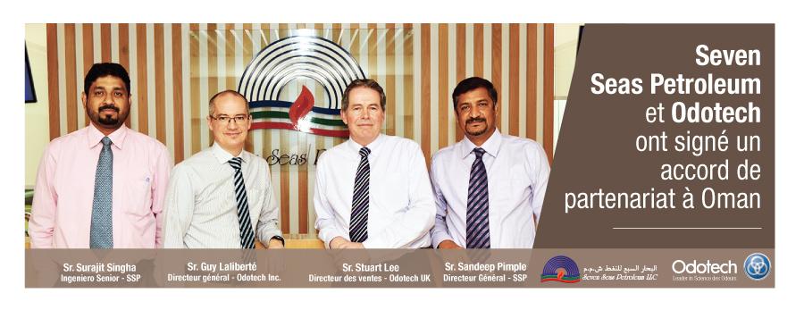 Seven Seas Petroleum et Odotech ont signé un accord de partenariat à Oman